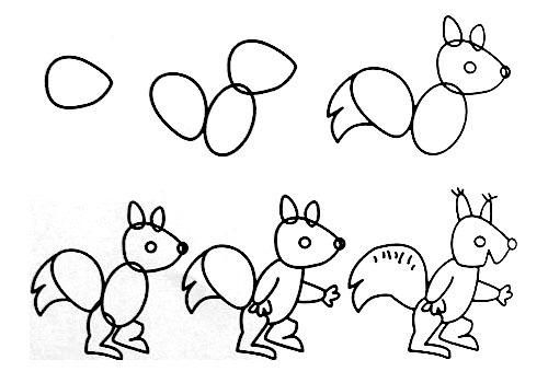 跟我学画小松鼠。