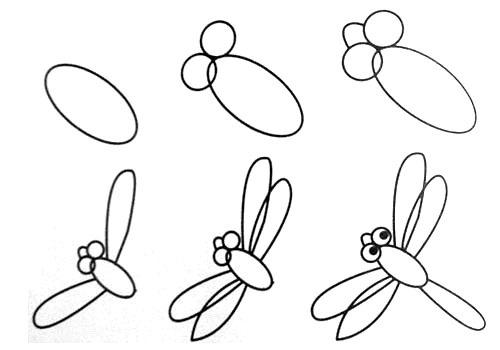 跟我学画小蜻蜓。