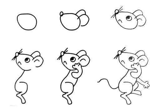 跟我学画小老鼠。