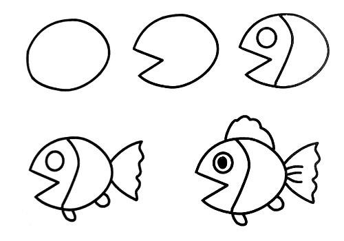 跟我学画小鱼儿。