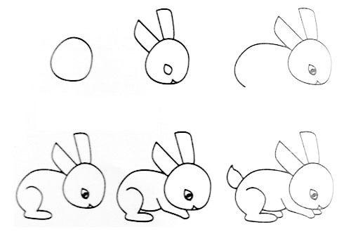 跟我学画小兔子。