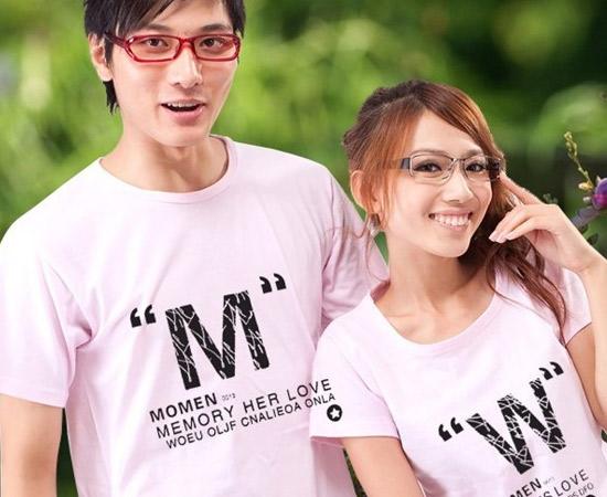 情侣衫很流行